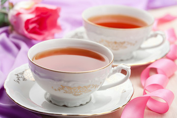 tea in elegant cups