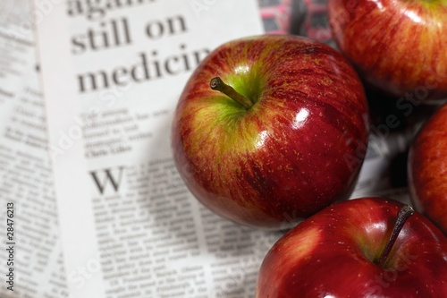 Healthy living - red apples