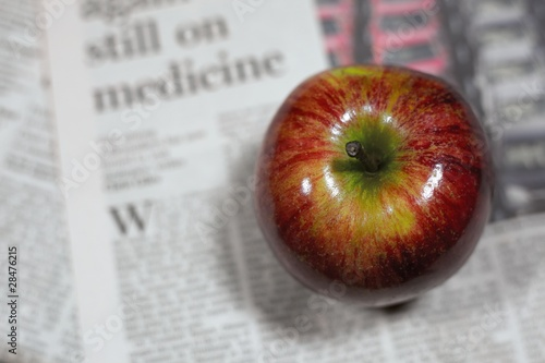 Healthy living - red apple