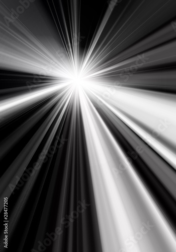 Abstract light beam