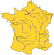 Carte des rivières de France