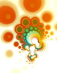 colorful circles retro ornament background design