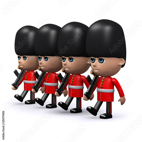 3d Guards in a row marching