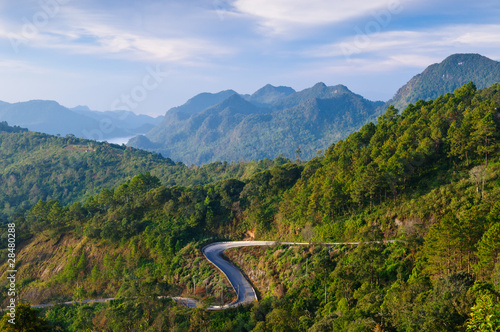 Curve road on the mountain,Thailand