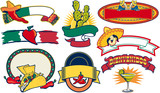 mexican restaurant vector elements