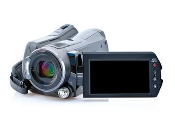 Camescope avec écran LCD vu de face