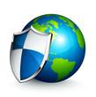 planète terre protection bouclier