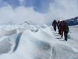 Seilschaft auf einem Gletscher