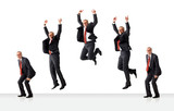 sequence of jumping senior business man poster