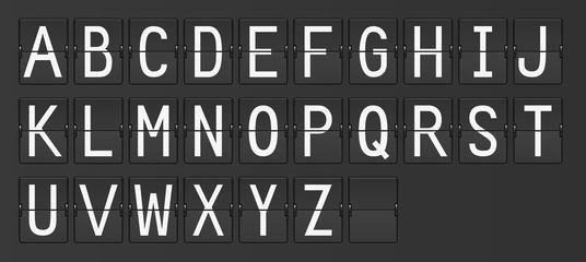 Anzeigetafel Buchstaben A-Z