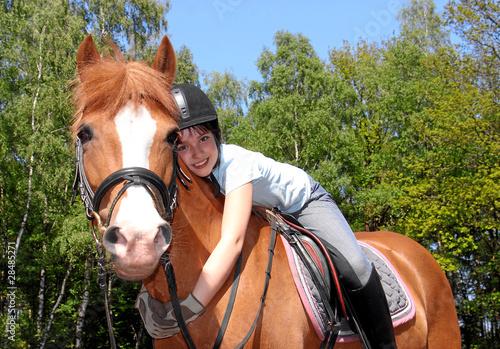 Mädchen und ihr Pony
