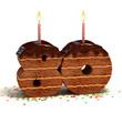 birthday cake for a eightieth birthday or anniversary