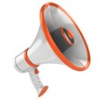megaphone isolated on white background 3d illustration