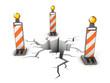 danger on the road 3d illustration