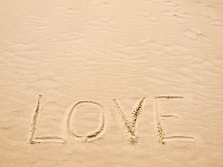 Love Written in the Sand on a Sunny Day