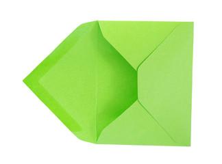 Green open envelope.