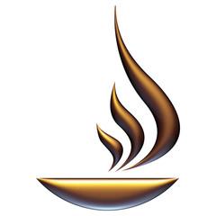Symbole breuvage chaud de bronze