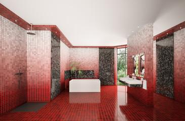 Badezimmer Interior 3d render