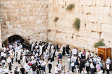Worshippers at Western Wall