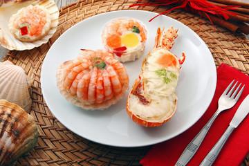 specialità di crostacei in gelatina