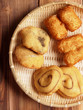 assorted asian dough fritters