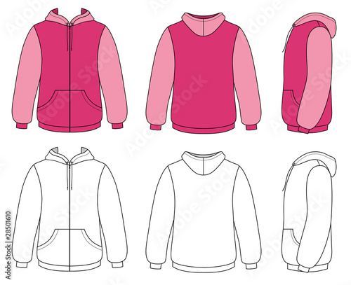Template vector illustration of a blank hoodie