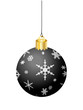 BLACK CHRISTMAS BAUBLE (merry xmas tree decorations icon happy)