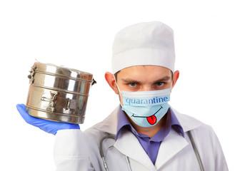 quarantine, doctor in a mask