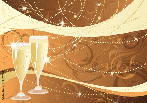 Holiday greeting card. vector illustration
