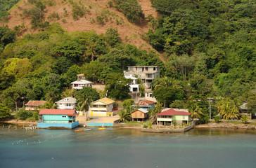 Tropical coastal scenery