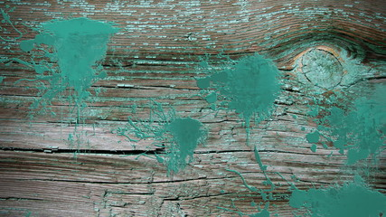 Paint splatters over old wood
