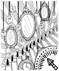 Абстракция с зеркалами