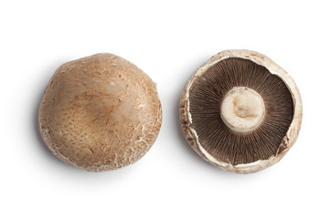 Whole fresh Portobello mushrooms