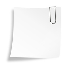 Notizzettel mit Büroklammer