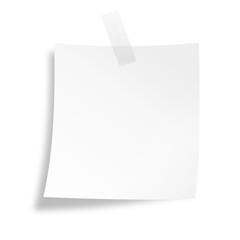 Notizzettel mit Klebestreifen