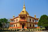 Santi Chedi pagoda, Phonphao temple,Luang Prabang,Laos poster