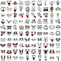 100 Comic Faces Set 2