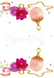 joyeuses fêtes - rose et perles