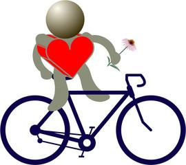bike red heart