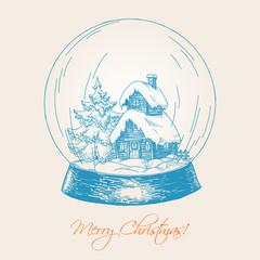 Snow globe sketch