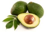 Fototapety Ripe Organic Avocado on white background
