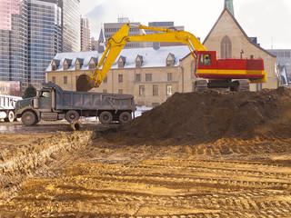 Excavation for new condo development
