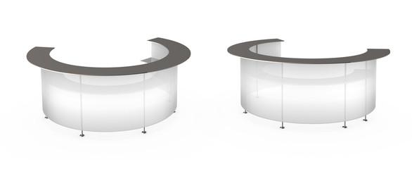 Transparent white reception