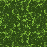 Decorative seamless  with green leafs pattern.