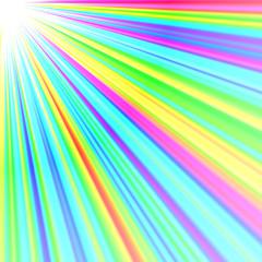 虹色の放射線