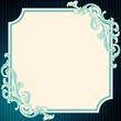 Vintage rococo frame in blue