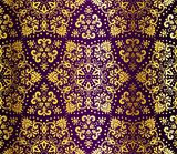 Fototapety Purple and gold seamless arabesque