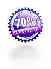 70% Preisnachlass Reduziert Button