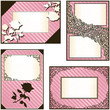 Collection of four elegant pink labels