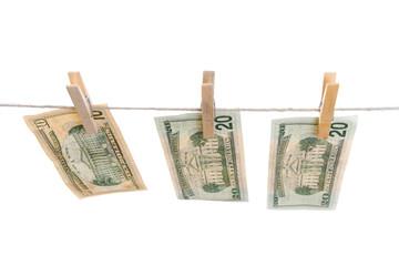 Money on string.
